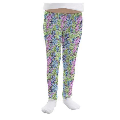 Leopard Skin Multicoloured Collection Girls Leggings