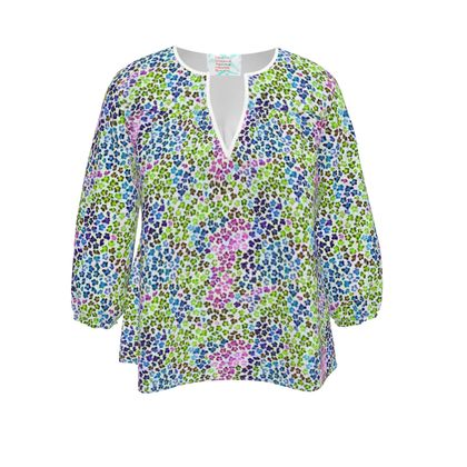Leopard Skin Multicoloured Collection Womens Blouse