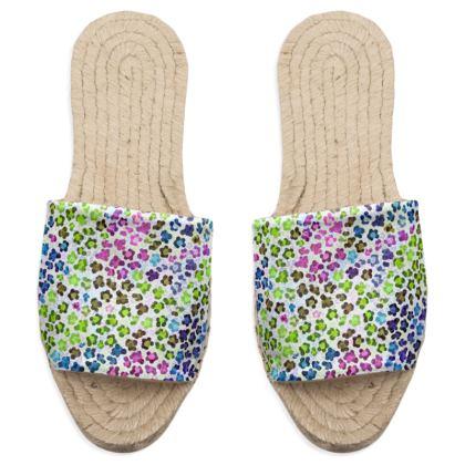 Leopard Skin Multicoloured Collection Sandal Espadrilles