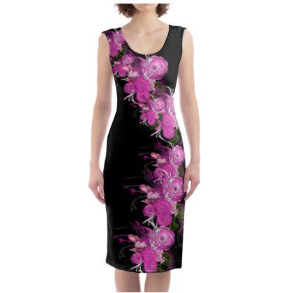 Bodycon dress - Fodral klänning - Pink summer fantasy black