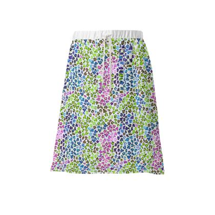 Leopard Skin Multicoloured Collection Skirt