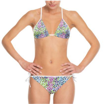 Leopard Skin Multicoloured Collection Bikini