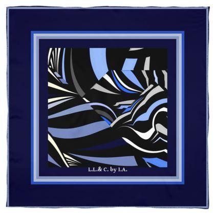 Foulard artistici in seta dalla collezione riflessi