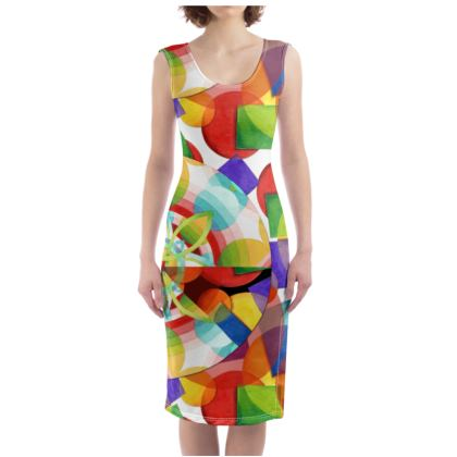 Psychedelic Geometric Bodycon Dress