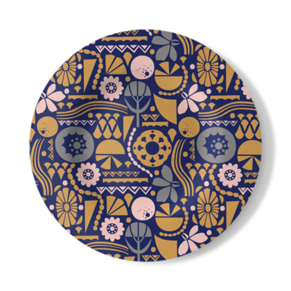 Eclectic Garden Original Decorative Plate