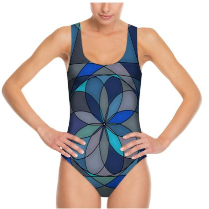 Swimsuit - Blue spiral