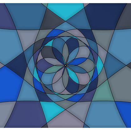 Strapless Swimsuit - Blue spiral