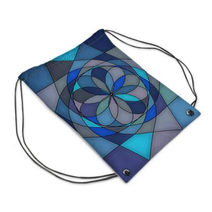 Swim Bag - Blue spiral