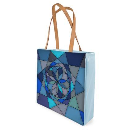 Beach Bag - Blue spiral