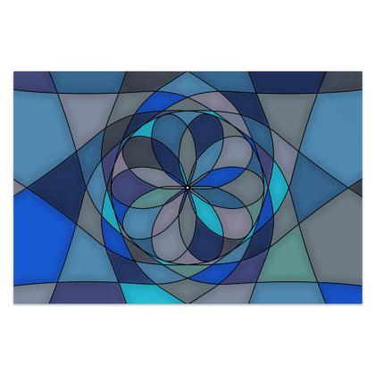 Sarong - Blue spiral