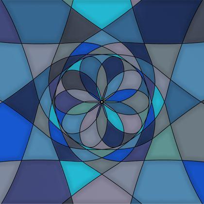 Towels - Blue spiral