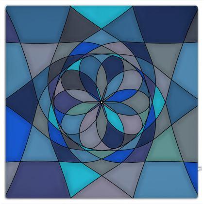 Picnic Blanket - Blue spiral