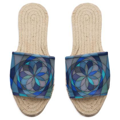 Sandal Espadrilles - Blue spiral