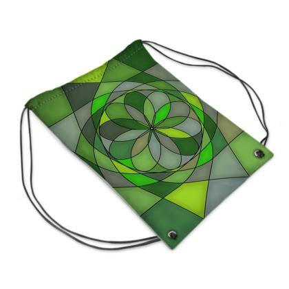 Swim Bag - Green spiral
