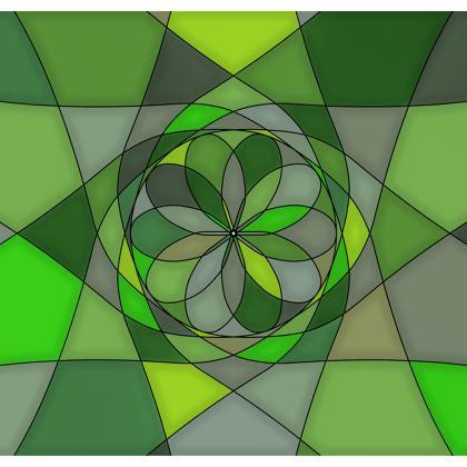 Strapless Swimsuit - Green spiral