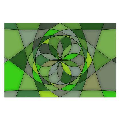 Sarong - Green spiral