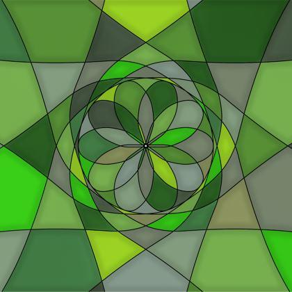 Towels - Green spiral