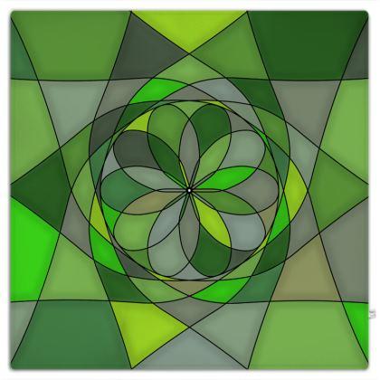 Picnic Blanket - Green spiral