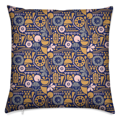 Eclectic Garden Original Small Cushion