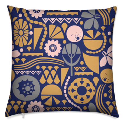 Eclectic Garden Original Large Cushion