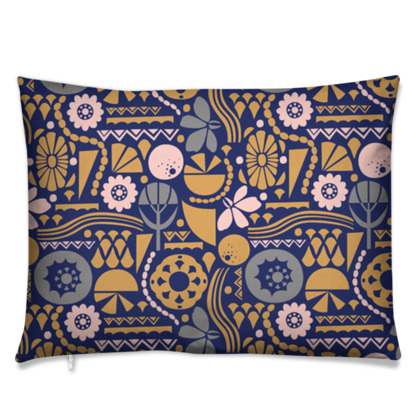Eclectic Garden Original Rectangle Cushion