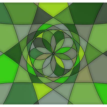 Men's Swimming Shorts - Green spiral