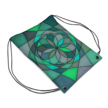 Swim Bag - Jade spiral