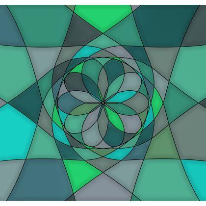 Strapless Swimsuit - Jade spiral
