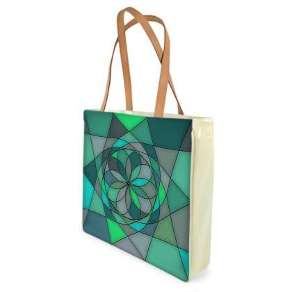 Beach Bag - Jade spiral