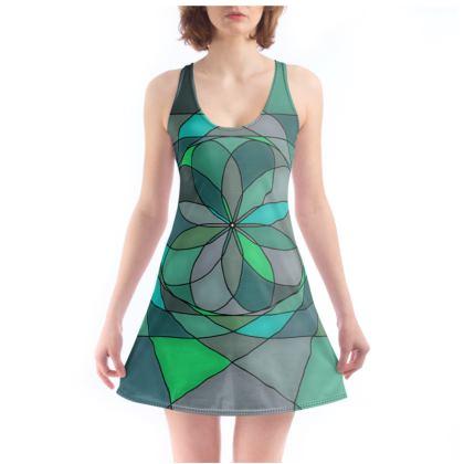 Beach Dress - Jade spiral