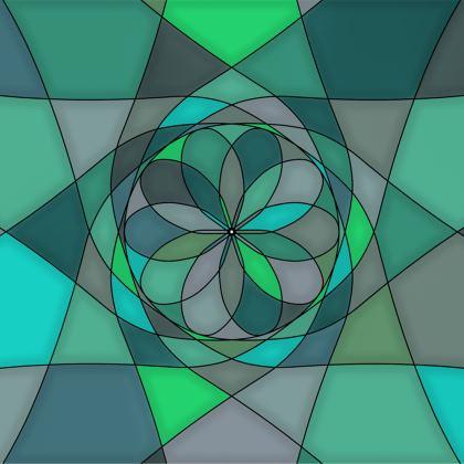 Towels - Jade spiral