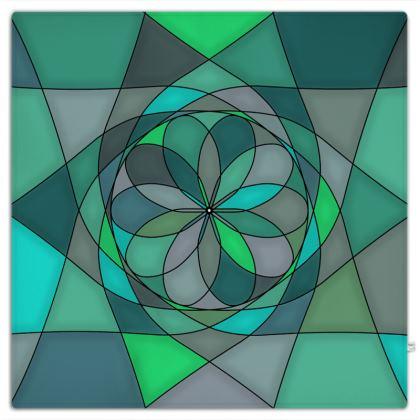 Picnic Blanket - Jade spiral