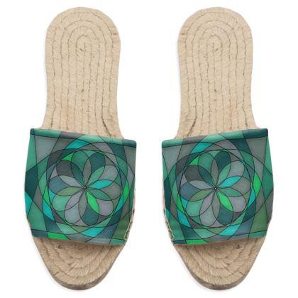 Sandal Espadrilles - Jade spiral