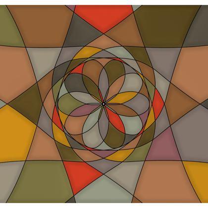 Men's Swimming Shorts - Orange spiral