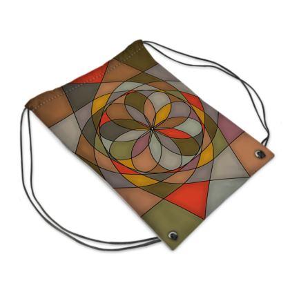 Swim Bag - Orange spiral