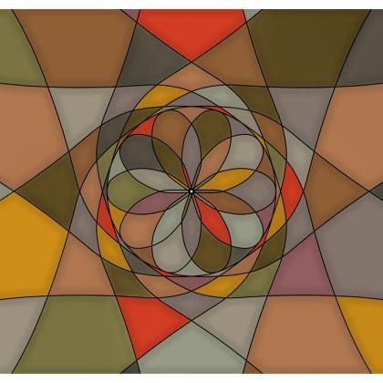 Strapless Swimsuit - Orange spiral