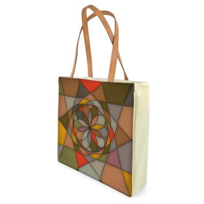 Beach Bag - Orange spiral