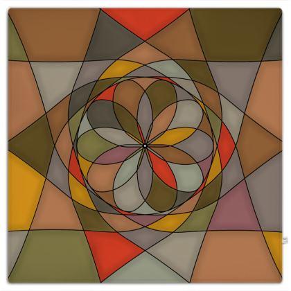 Picnic Blanket - Orange spiral