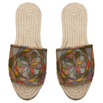 Sandal Espadrilles - Orange spiral