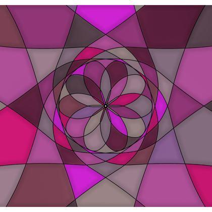 Men's Swimming Shorts - Pink spiral