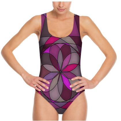 Swimsuit - Pink spiral