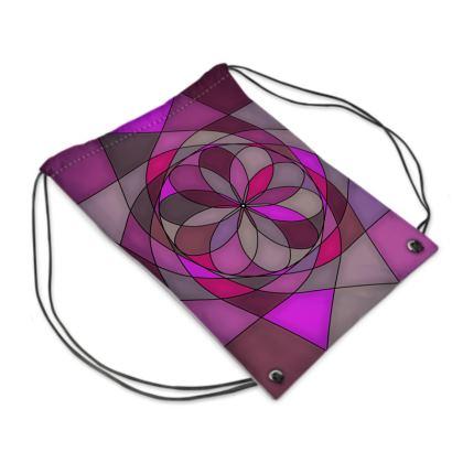 Swim Bag - Pink spiral