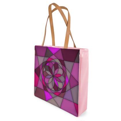 Beach Bag - Pink spiral