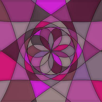 Towels - Pink spiral