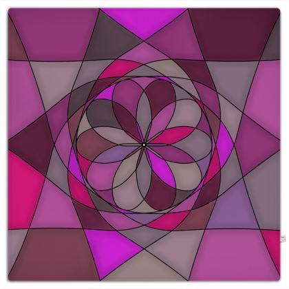 Picnic Blanket - Pink spiral