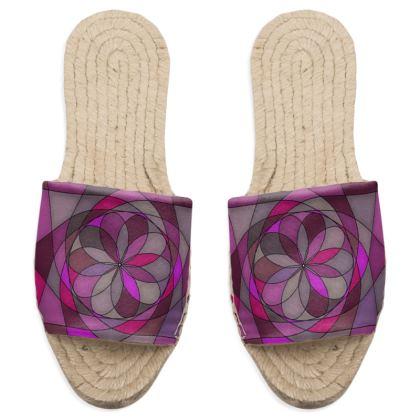 Sandal Espadrilles - Pink spiral