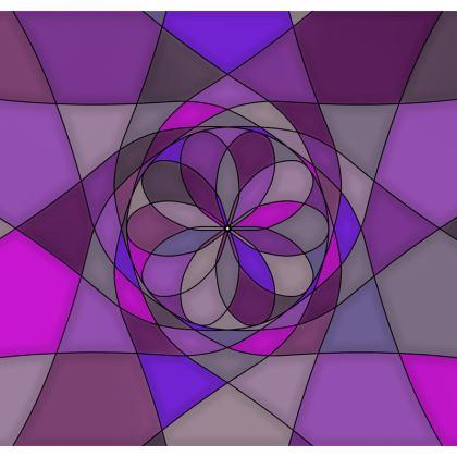 Men's Swimming Shorts - Purple spiral