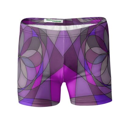 Swimming Trunks - Purple spiral