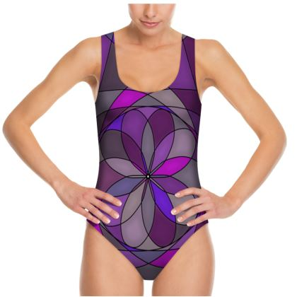 Swimsuit - Purple spiral