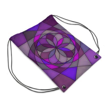 Swim Bag - Purple spiral
